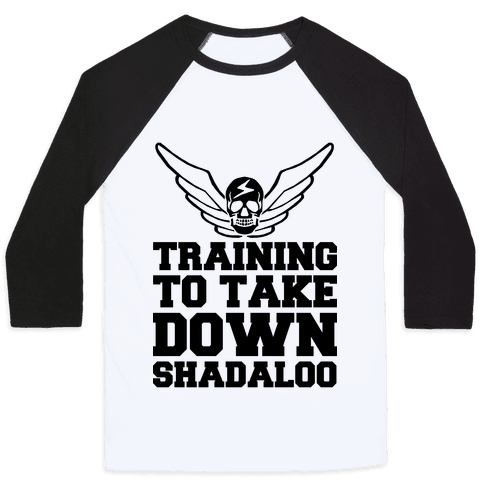 Training To Take Down Shadaloo Baseball Tee