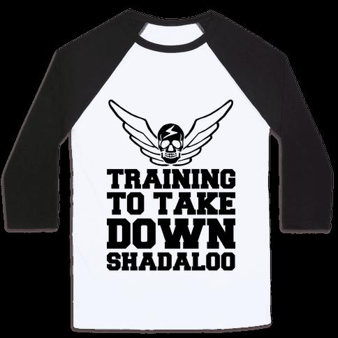 Training To Take Down Shadaloo Baseball Tee