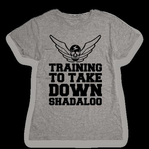 Training To Take Down Shadaloo Womens T-Shirt