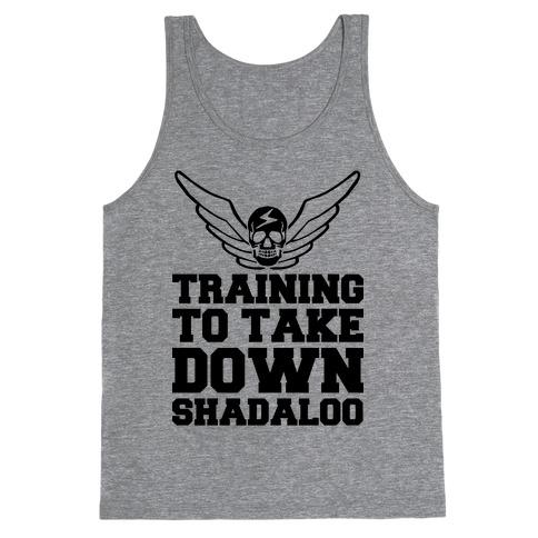 Training To Take Down Shadaloo Tank Top