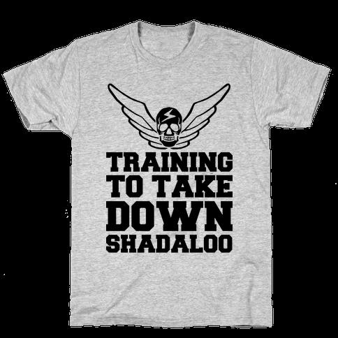 Training To Take Down Shadaloo Mens T-Shirt