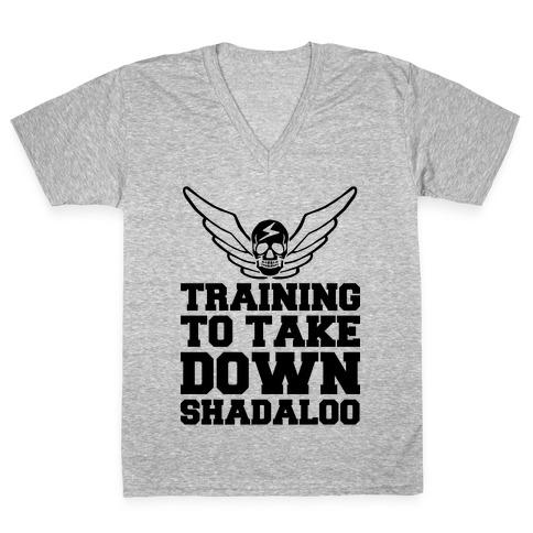 Training To Take Down Shadaloo V-Neck Tee Shirt