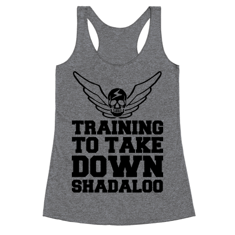 Training To Take Down Shadaloo Racerback Tank Top