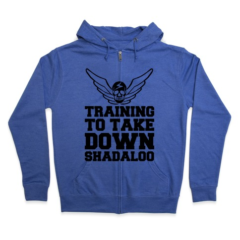 Training To Take Down Shadaloo Zip Hoodie