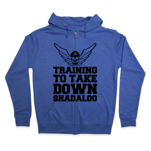 Training To Take Down Shadaloo Zip Hoodie