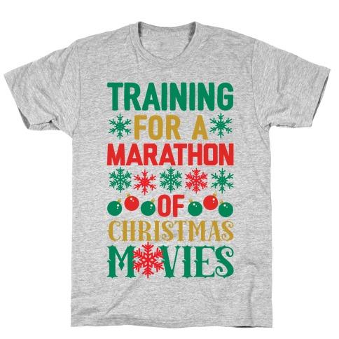 Training For A Marathon (Of Christmas Movies) Mens/Unisex T-Shirt