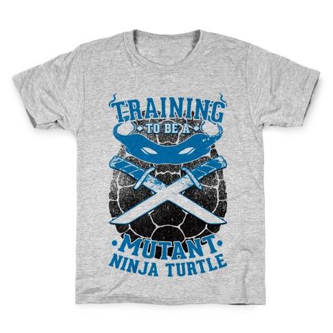 Training To Be A Mutant Ninja Turtle Kids T-Shirt