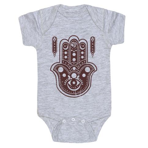 Namaste Hamsa Hand Baby Onesy