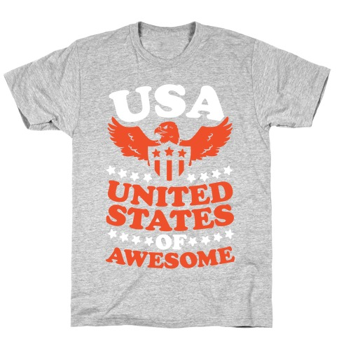 United States of Awesome (Patriotic T-Shirt) Mens T-Shirt