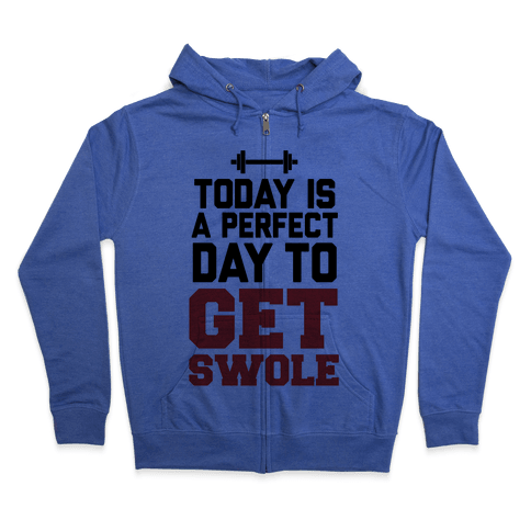 Today Is a Perfect Day to Get Swole Zip Hoodie