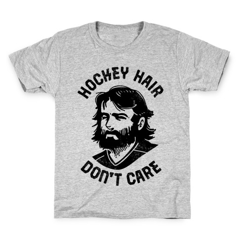 Hockey Hair Don't Care Kids T-Shirt