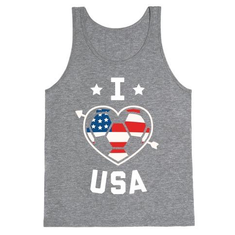 I Love USA (Soccer) Tank Top