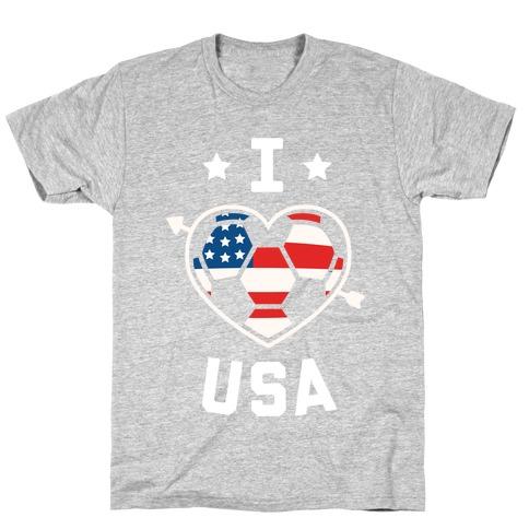 I Love USA (Soccer) T-Shirt