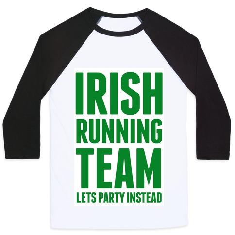 Irish Running Team Baseball Tee