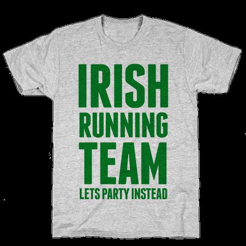 Irish Running Team Mens T-Shirt