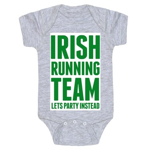 Irish Running Team Baby Onesy