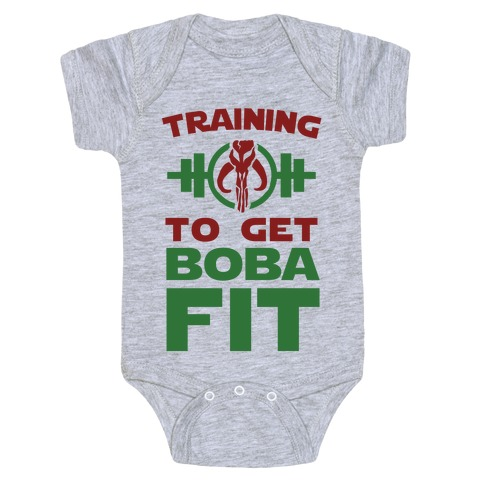 Training to Get Boba Fit Baby Onesy