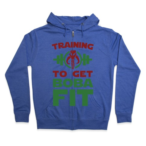 Training to Get Boba Fit Zip Hoodie