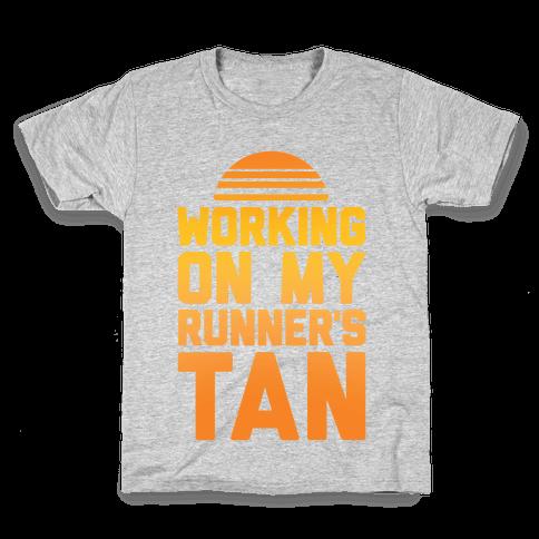 Working On My Runner's Tan Kids T-Shirt