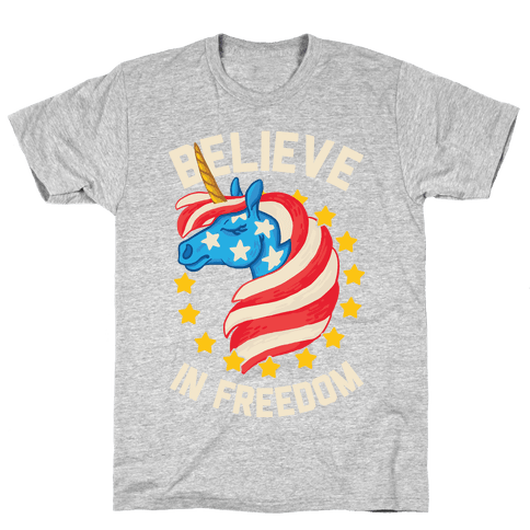 Believe In Freedom Mens T-Shirt