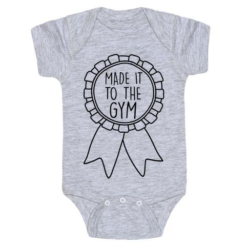 Made It To The Gym Award Ribbon Baby Onesy