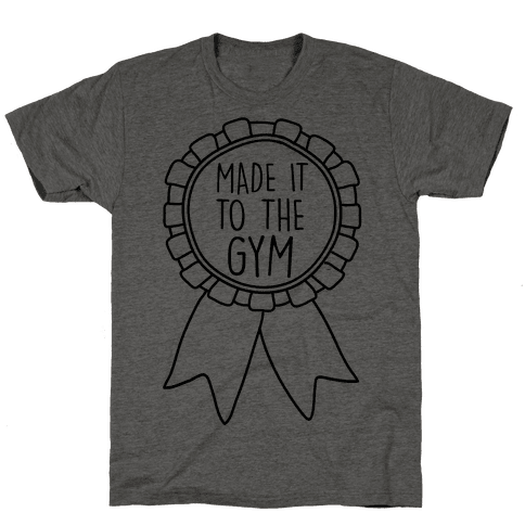 Made It To The Gym Award Ribbon