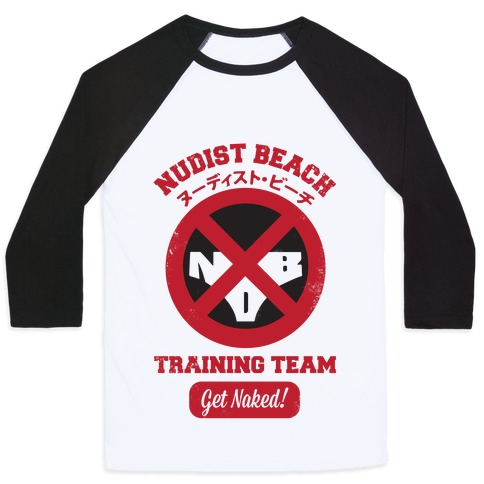 Nudist Beach Training Team Baseball Tee
