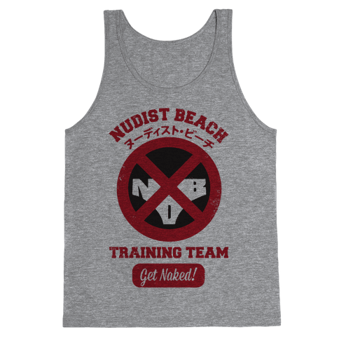 Nudist Beach Training Team Tank Top