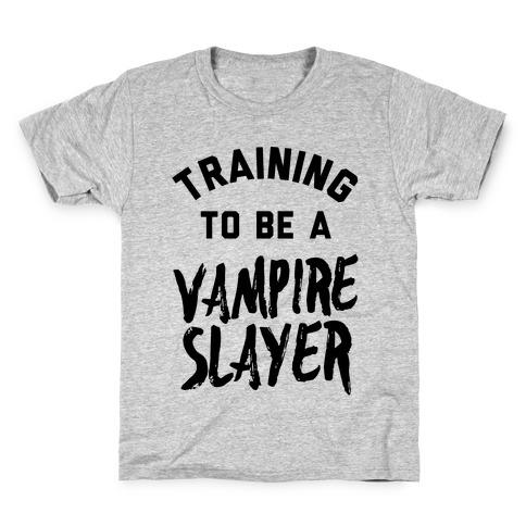 Training To Be A Vampire Slayer Kids T-Shirt