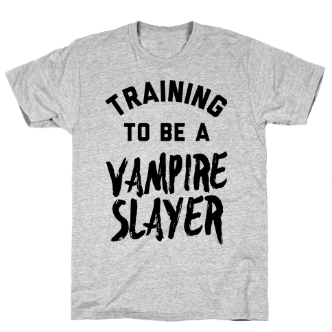 Training To Be A Vampire Slayer Mens T-Shirt