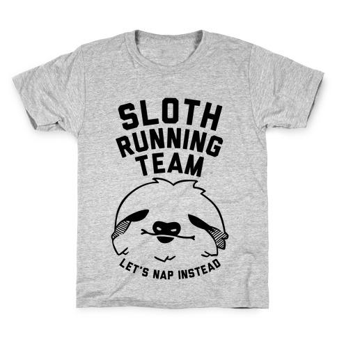 Sloth Running Team Kids T-Shirt