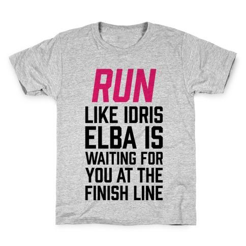 Run Like Idris Elba Is At The Finish Line Kids T-Shirt