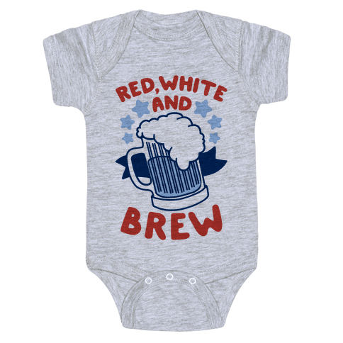 Red, White and Brew Baby Onesy
