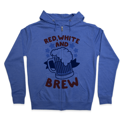 Red, White and Brew Zip Hoodie