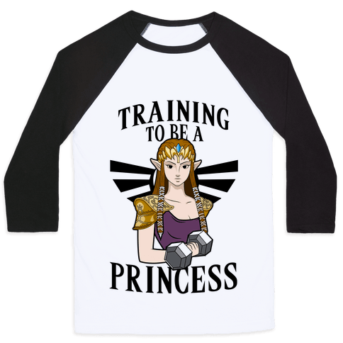Training To Be A Princess Baseball Tee