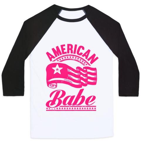 American Babe (Patriotic Tank) Baseball Tee