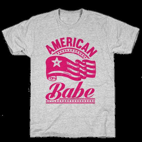 American Babe (Patriotic Tank) Mens T-Shirt
