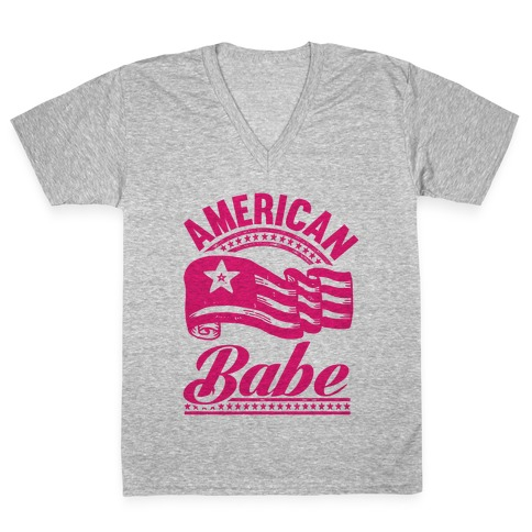 American Babe (Patriotic Tank) V-Neck Tee Shirt