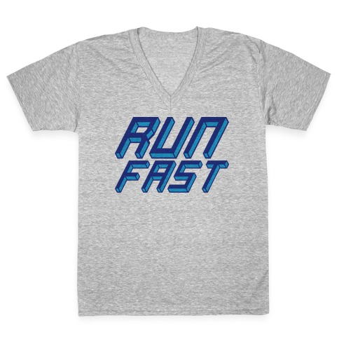 Run FAST V-Neck Tee Shirt