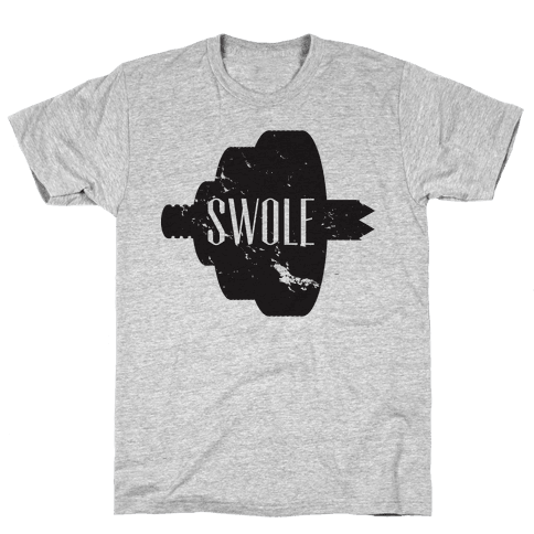 Swole Mates Distressed (swole half) Mens T-Shirt