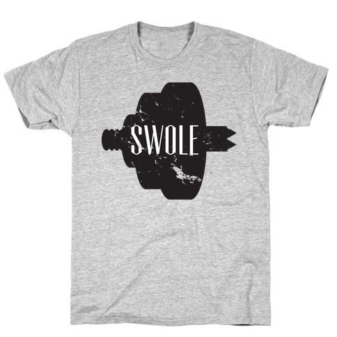 Swole Mates Distressed (swole half) T-Shirt