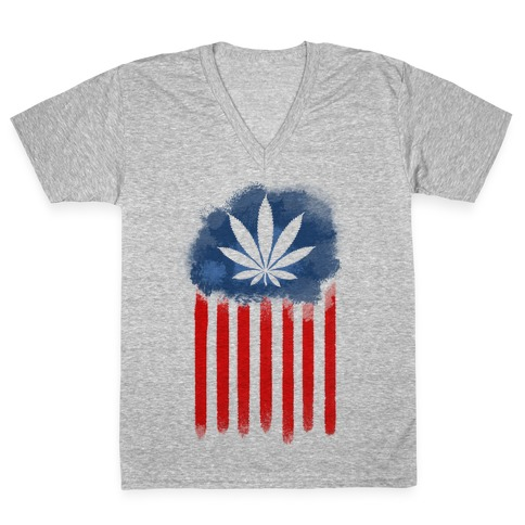 In Weed We Trust (Political) V-Neck Tee Shirt
