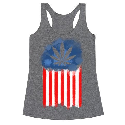 In Weed We Trust (Political) Racerback Tank Top