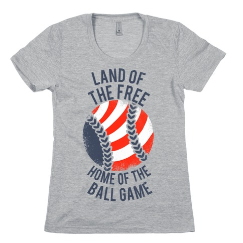Land of the Free Home of the Ball Game (Vintage) Womens T-Shirt