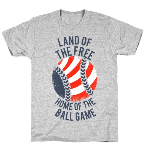 Land of the Free Home of the Ball Game (Vintage) T-Shirt