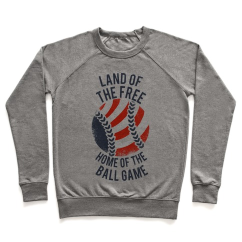 Land of the Free Home of the Ball Game (Vintage) Pullover