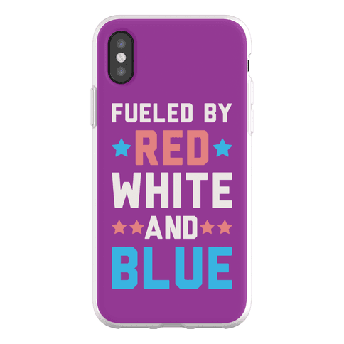 Fueled By Red White And Blue Phone Flexi-Case