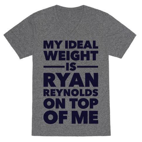 Ideal Weight (Ryan Reynolds) V-Neck Tee Shirt