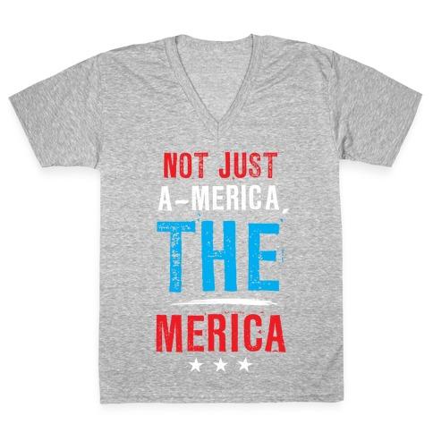 The Merica V-Neck Tee Shirt