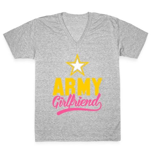 Army Girlfriend (Army T-Shirt) V-Neck Tee Shirt